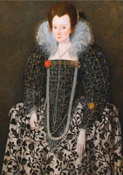 Peake, Robert (The Elder): Portrait of a Woman. Fine Art Print/Poster (4790)